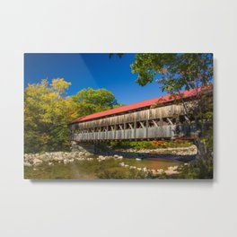 New York Albany Covered Bridge Metal Print