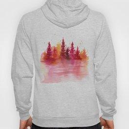 Autumn Woods Watercolor Hoody