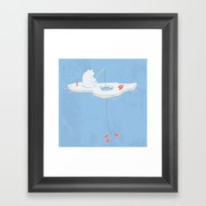 Gone Ice Fishin' Framed Art Print