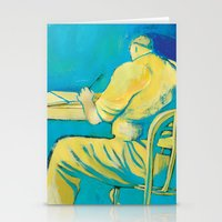 writer Stationery Cards featuring THE WRITER by Carola Ghilardi