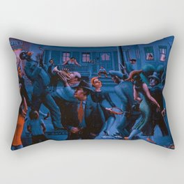 African-American Classical Masterpiece Gettin' Religion by Archibald Motley Rectangular Pillow