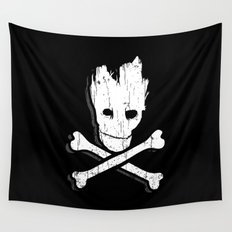 Groot & Bones Wall Tapestry