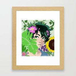 Florist AU Izuku Midoriya Framed Art Print