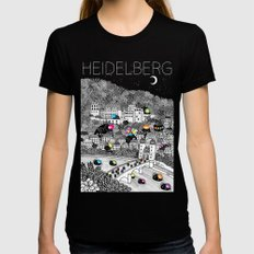 Locals Only - Heidelberg, Germany Womens Fitted Tee Black MEDIUM