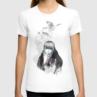 swan T-shirts featuring Swan Love by Ariana Perez