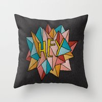 pixies Throw Pillows featuring HEY by Josh LaFayette
