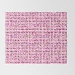 Pink Watercolor Tile Pattern Throw Blanket