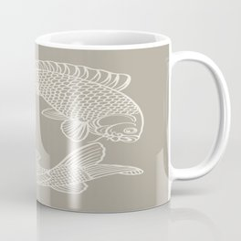 Gray Grey Alabaster Koi Fishes Coffee Mug