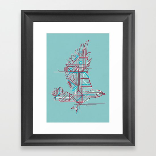 Wind-Up Bird (light) Framed Art Print