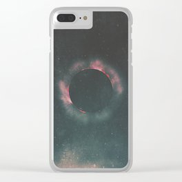 The Dark Sun Clear iPhone Case