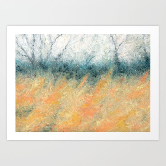 The Day's Deal With The Coming Night Art Print