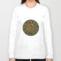 calendar Long Sleeve T-shirts featuring Ancient Calendar by Klara Acel