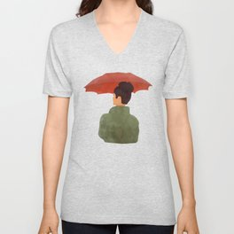 Umbrella Unisex V-Neck