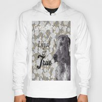 great dane Hoodies featuring Loyal & True (Great Dane) by Ricochet  Elm  Studio