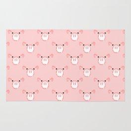 Cute Pink Pig face Rug