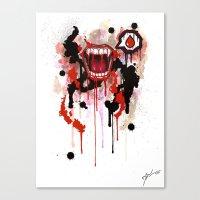 vampire Canvas Prints featuring Vampire by Daniel Savoie
