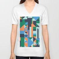 hunter V-neck T-shirts featuring Hunter by La Señora