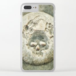 Mysterious stone skull Clear iPhone Case