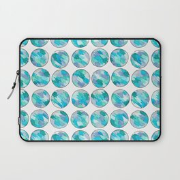 'An Ocean Dream' Abstract Illustration in blue, turquoise, aqua and silver Laptop Sleeve