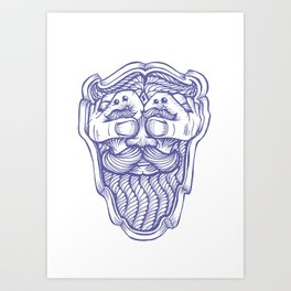 Handsome Beard Art Print