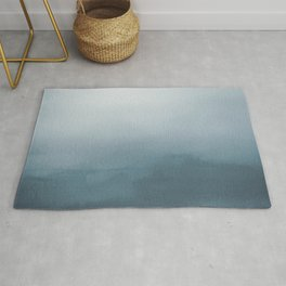 Behr Blueprint Blue S470-5 Abstract Watercolor Ombre Blend - Gradient Rug