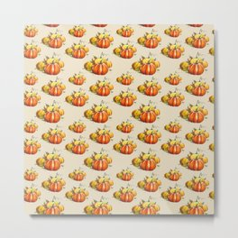 Pumpkin Pattern Metal Print