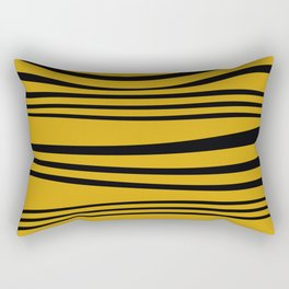 Stripes wave Graphic yellow Rectangular Pillow
