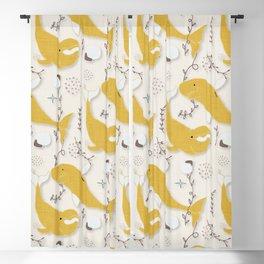 Beluga Whale Yellow #homedecor Blackout Curtain