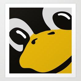 Linux tux Penguin eyes Art Print
