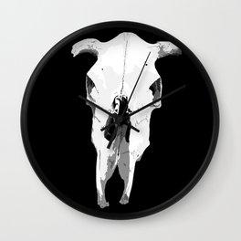 """""""Moo!"""" (Cow Skull) Wall Clock"""