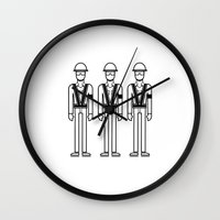 beastie boys Wall Clocks featuring Beastie Boys by Band Land