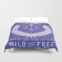 Wild Free Wolf Periwinkle Duvet Cover