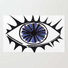 Blue Eye Warding Off Evil Rug