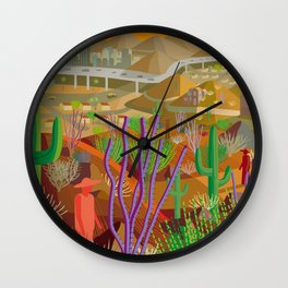 Desert City Phoenix Wall Clock
