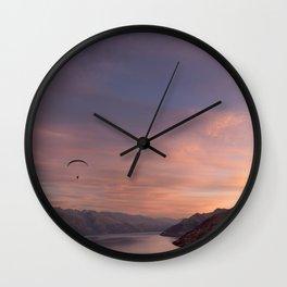 Sunset over Lake Wakatipu Wall Clock
