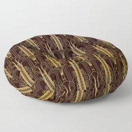 Glam Gold Art Deco Ornate Pattern Floor Pillow
