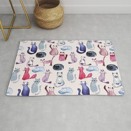 Cats in ink Rug