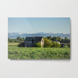 Old Homestead, Gallatin County, Montana Metal Print