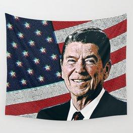 Patriotic President Reagan Wall Tapestry