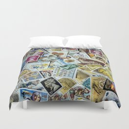 Stamps Duvet Cover