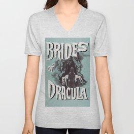 Brides of Dracula, vintage horror movie poster Unisex V-Neck