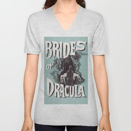 Brides of Dracula, vintage horror movie poster Unisex V-Neck