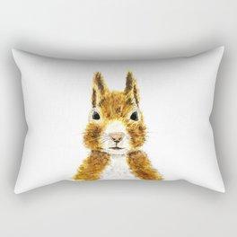 cute little squirrel watercolor Rectangular Pillow