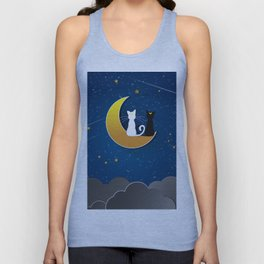 CAT STARRY NIGHT Unisex Tank Top