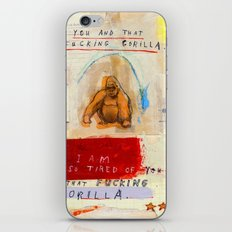 Gratuitous Simian Profanity. iPhone & iPod Skin