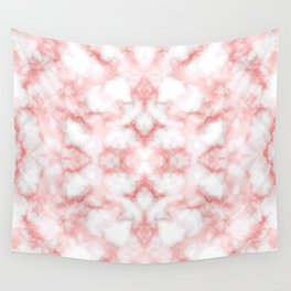 Abstract Red Marbel Wall Tapestry