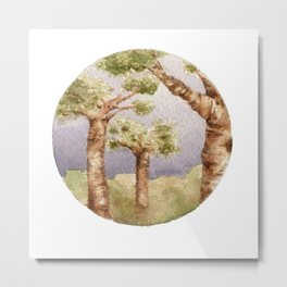 Baobab Sky Metal Print