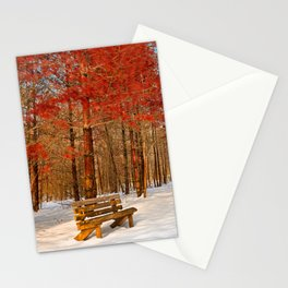 Ruby Winter Trail Stationery Cards