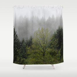 Foggy Forest Wanderlust Adventure - 114/365 Nature Photography Shower Curtain