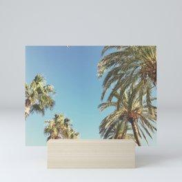 Palms and Bird Mini Art Print